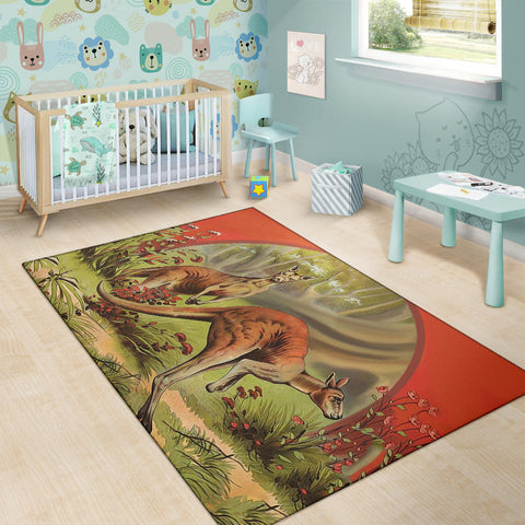 Australia Area Rug Two Kangaroo Th5