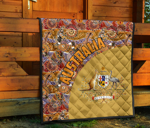 Australia Premium Quilt Australia Pattern Wave Coat Of Arms TH1