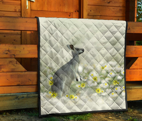 Australia Premium Quilt Kangaroo With Flowers TH1