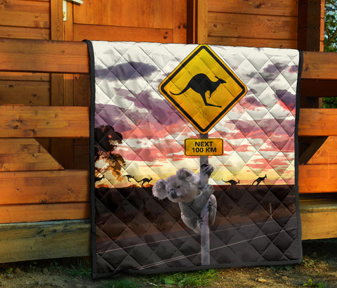 Australia Premium Quilt Koala And Kangaroo Sign TH1