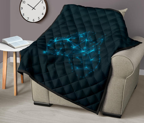 Australia Map Glowing Premium Quilt TH1
