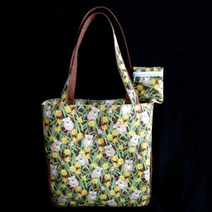 KOALA and GUM TREE Print Large Fabric Handbag Tote Purse R9