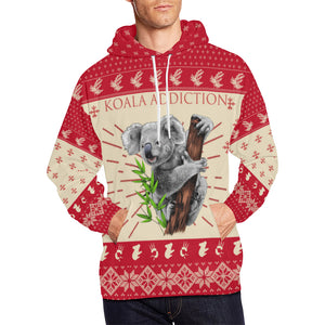 Australia Hoodie Koala Addiction Hoodie - Front - Red mix Creme color - For Men