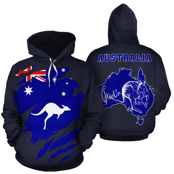Australia In Me All Over Hoodie Navy Blue