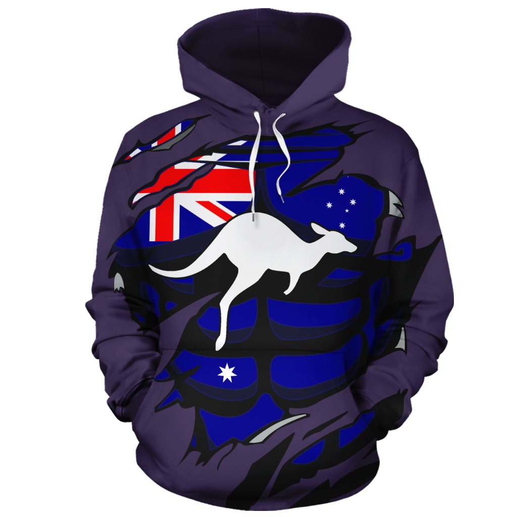 Australia In Me All-Over Hoodie Violet