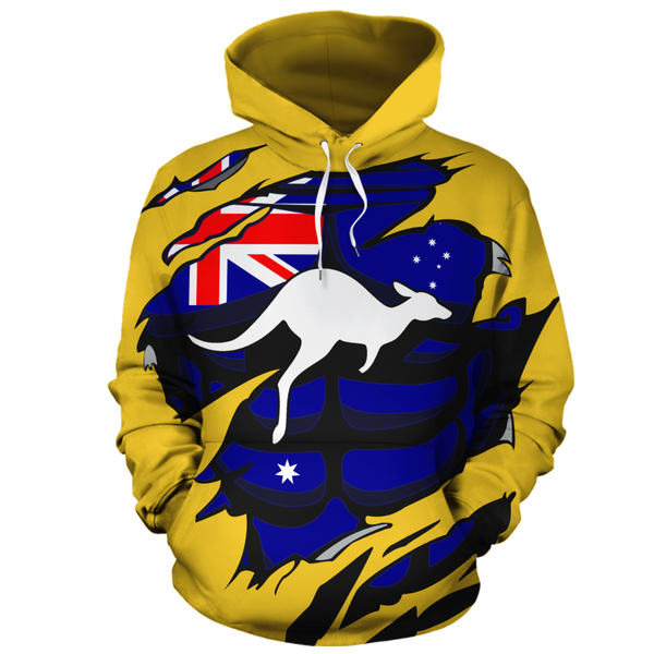 Australia In Me All-Over Hoodie Yellow