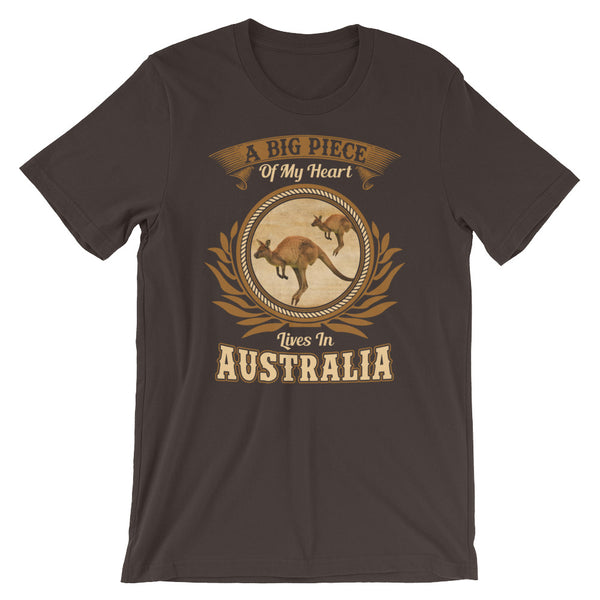 A Big Piece Of My Heart Lives In Australia Unisex T-Shirt