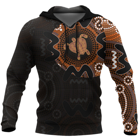 Australia In My Heart Aboriginal Tattoo Turtle Hoodie Style