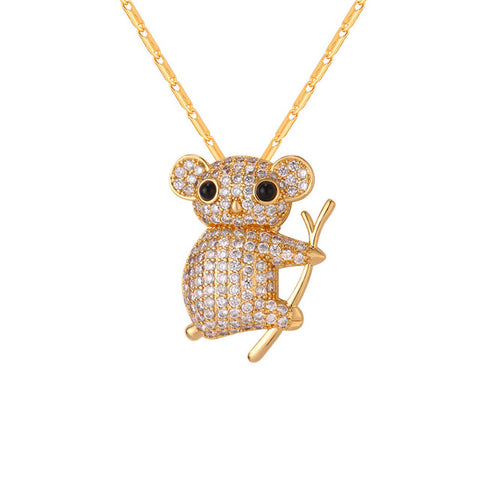 Image of Cute Koala Necklace Gold