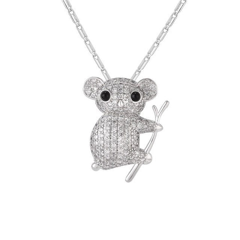 Image of Cute Koala Necklace Silver