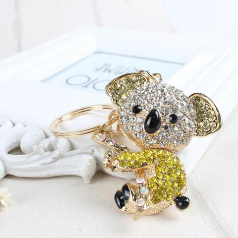 Koala Key Chain Bear Koala Tree Yellow
