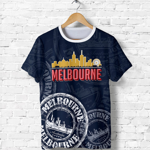 Image of Australia T-shirt - Melbourne Stamp - MRP