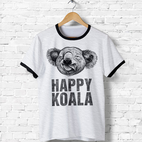 1stAustralia T-Shirt - Koala T-Shirt Happy Drawing - Unisex - Bn14