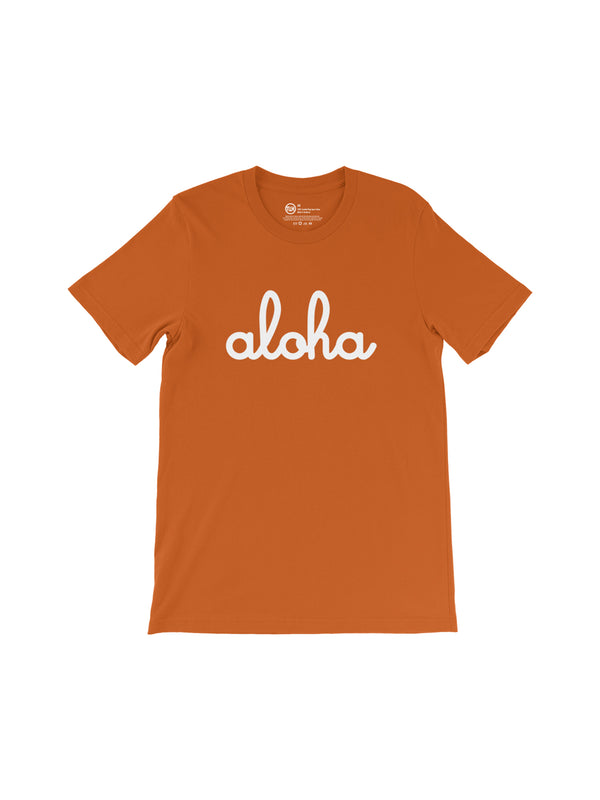 Unisex Aloha T-Shirt Autumn / White