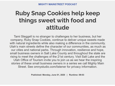 RubySnap Cookies Help Keep Things Sweet with Food and Attitude