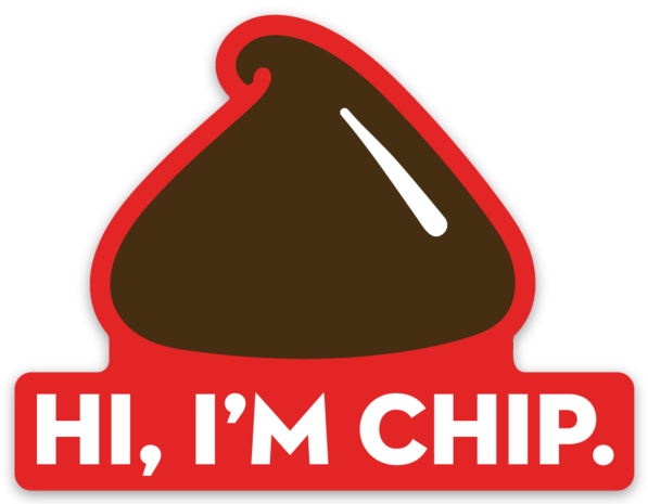 Chip Vinyl Sticker