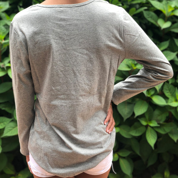 Grey Embroidered T-shirt