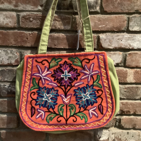Crewel Embroidered Tote Bag
