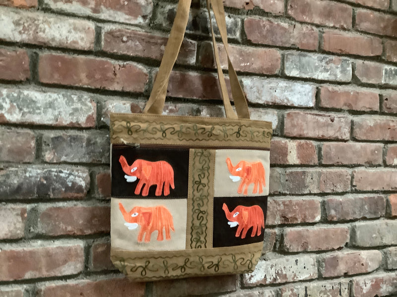 Suede Shoulder Messenger / Tote Bag (H20)