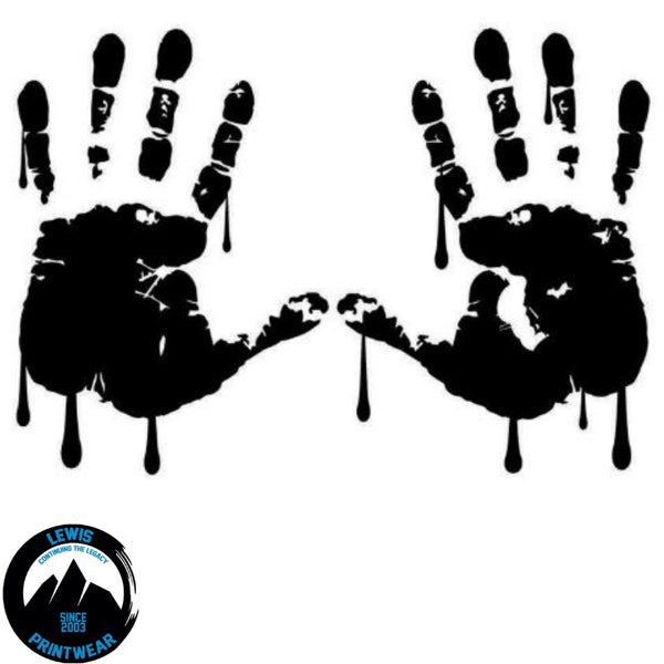 Bloody Hands - Decal