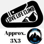 Love Life Climb - Decal