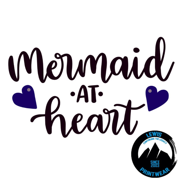 Mermaid At Heart - Decal