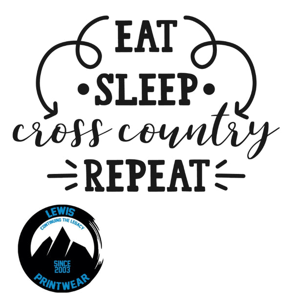 Eat, Sleep, Cross Country, Repeat - Decal