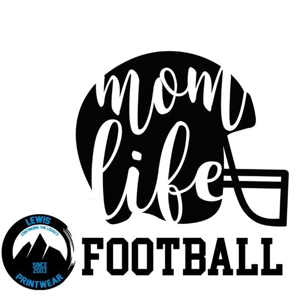 Mom Life - Football  - Decal
