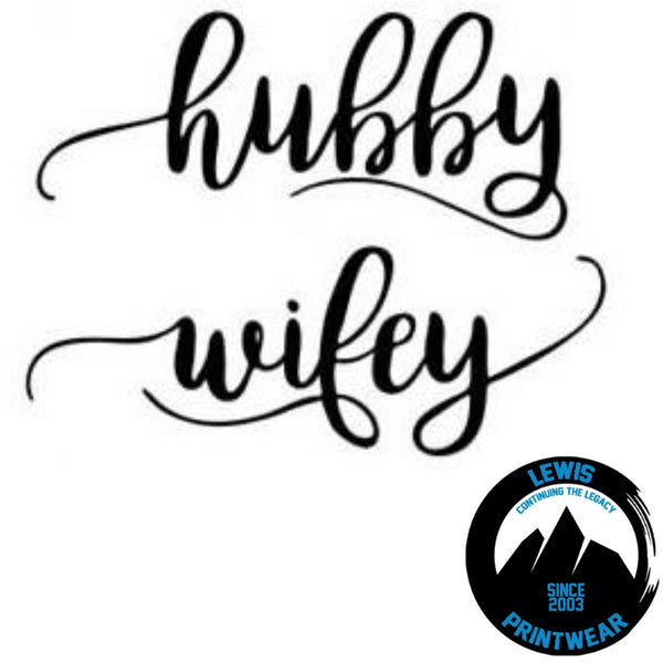 Hubby / Wifey - Decal Set