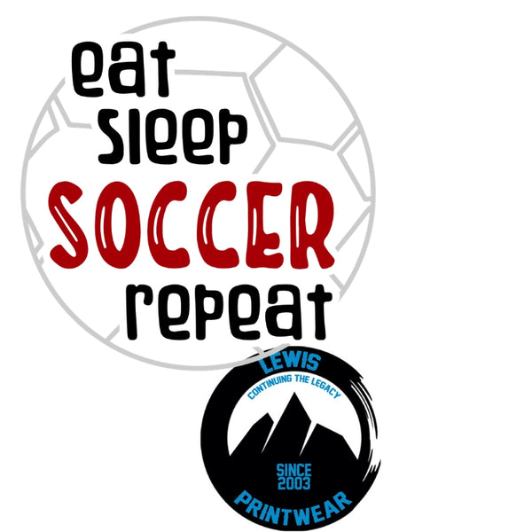 Eat, Sleep, Soccer, Repeat - Decal
