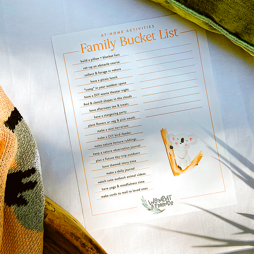 Print This: At-Home Bucket List of Activities for Families