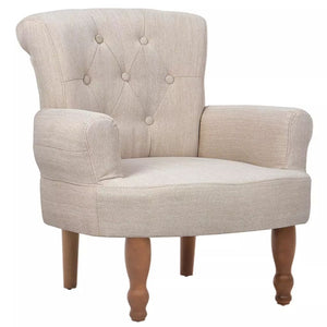 Armrests Fabric Chair (Cream)