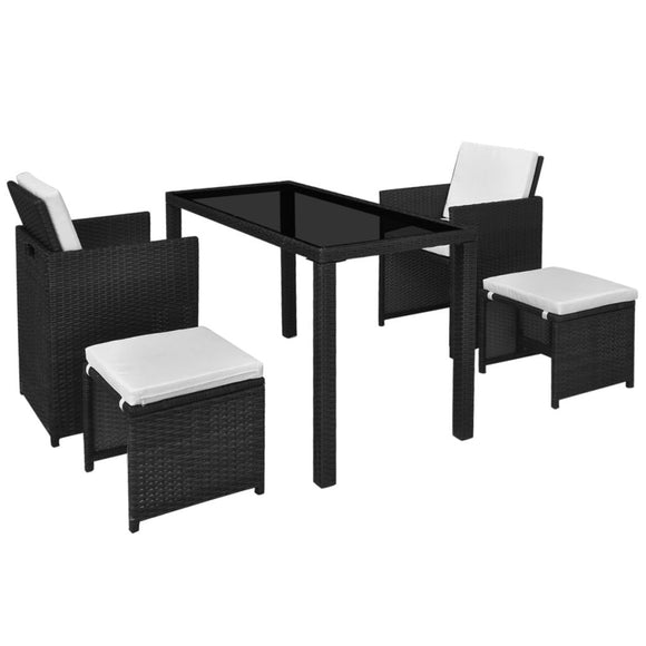 11 Pieces Outdoor Dining Set ( Black)
