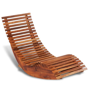 Rocking Sun Lounger Wood