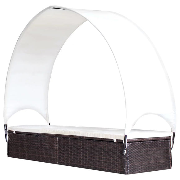 Sunlouge with Canopy (Brown)