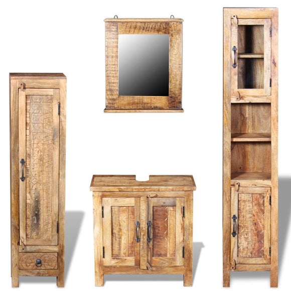 2 Side Cabinet With Mirror and Vintage Cabinet