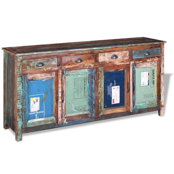 Sideboard with 4 Doors 4 Drawers - Reclaimed Wood