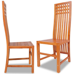 2 pcs Dining Chair Solid Teak