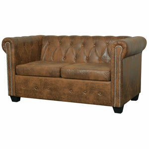 Chesterfield Sofa 2 Seater (Brown)
