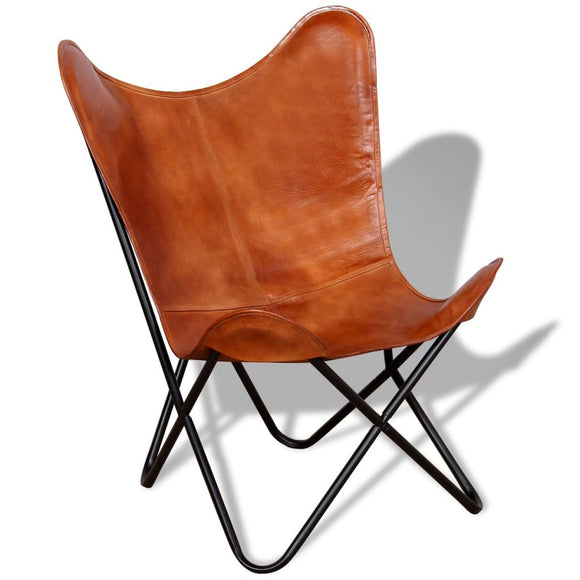 Chair Real Leather (Brown)