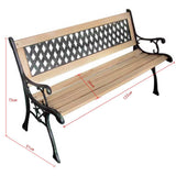 Diamond Patterned Backrest (Garden Bench)