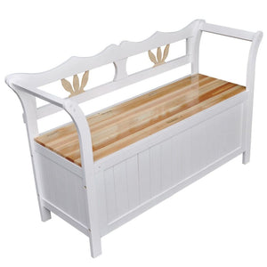 Storage Bench (Wood) - White
