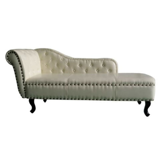 Chaise Lounge Leather (Cream White)