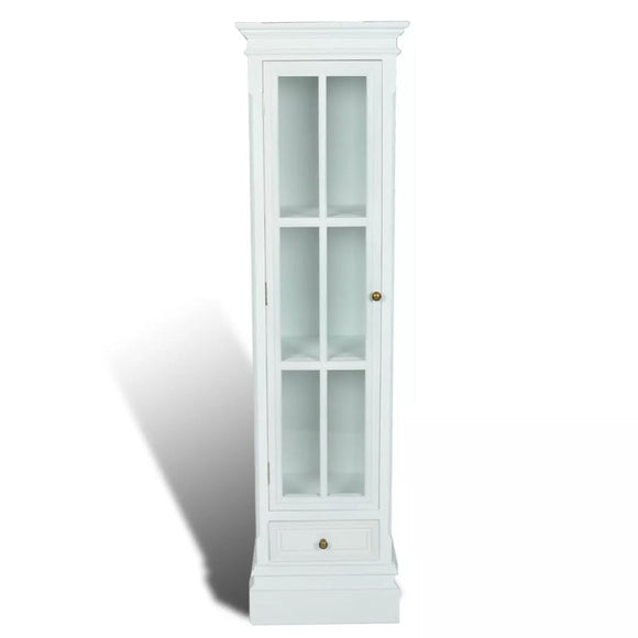 Chic Bookcase Cabinet 3 Shelf Wood (White)