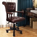 Chesterfield Swivel Office Chair (Brown)