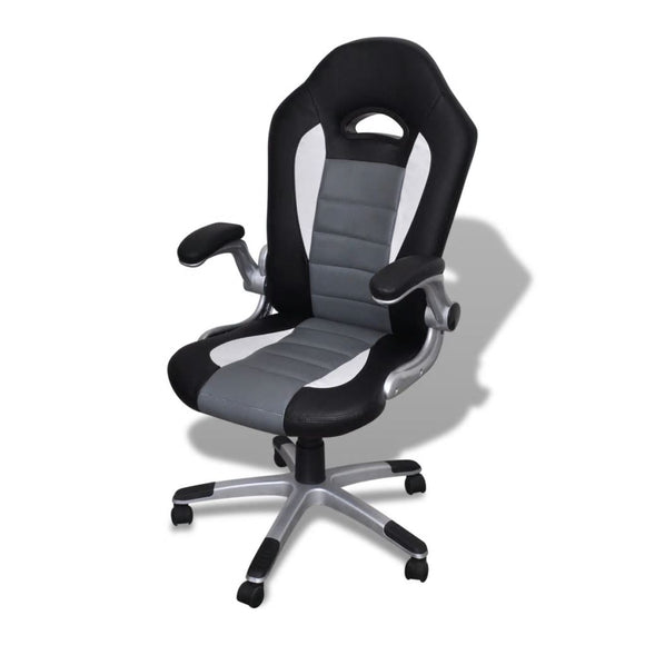 Modern Office Chair (Grey - Artificial Leather)