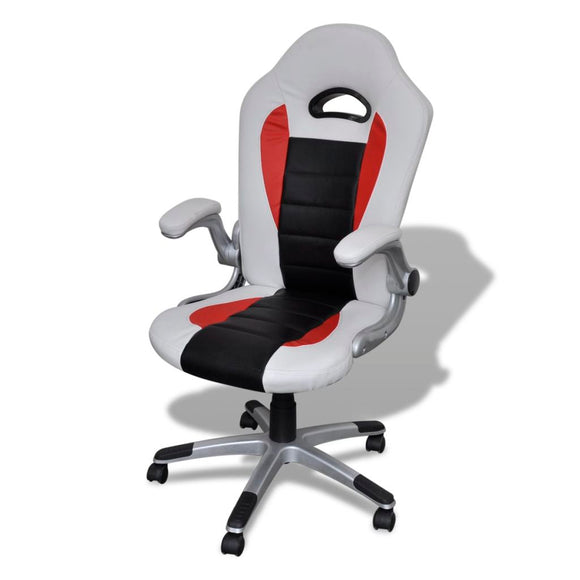 Modern Office Chair (White- Artificial Leather)