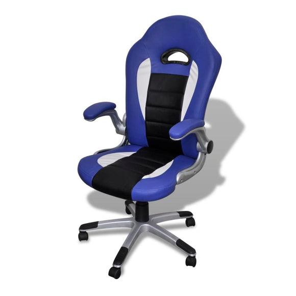 Modern Office Chair (Blue - Artificial Leather)