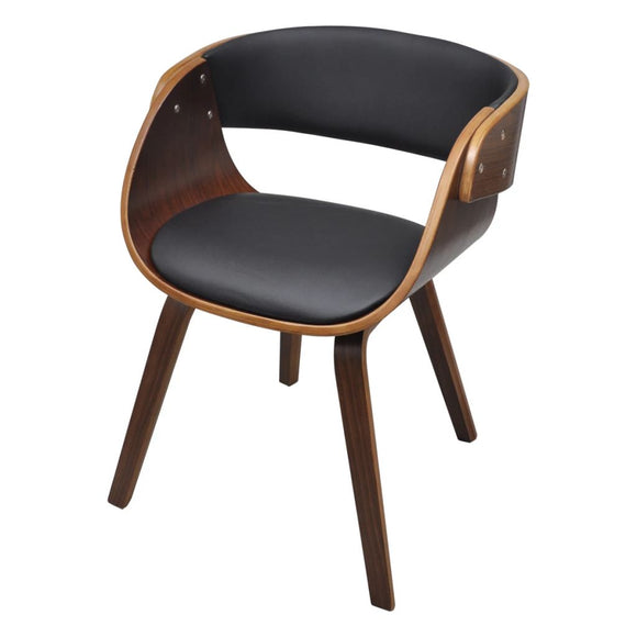 Dining Chair with Wooden Frame (Brown)