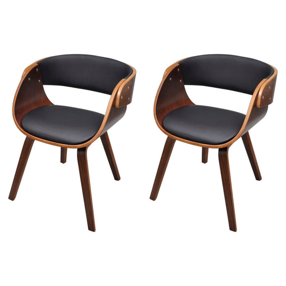 2 pcs Dining Chair (Brown)